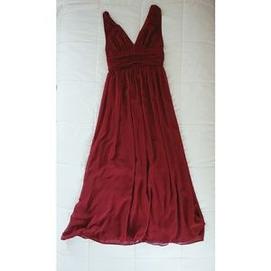 Ever Pretty floor length burgundy dress.